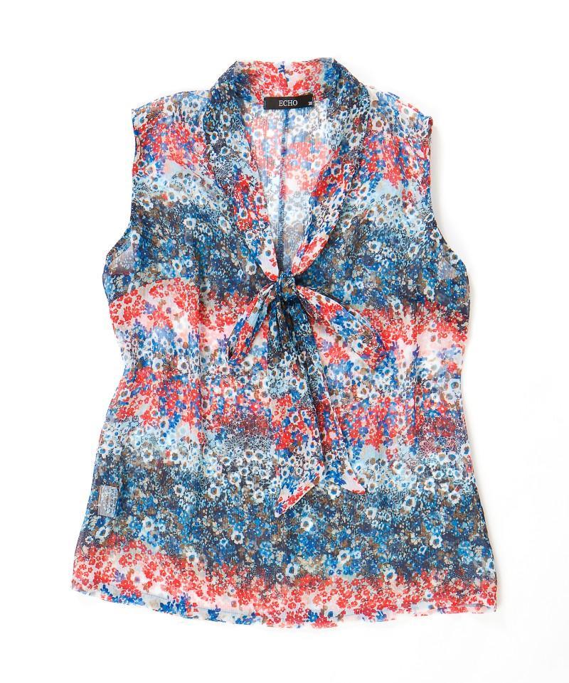 kolorowa bluzka Echo we wzory - moda wiosna/lato