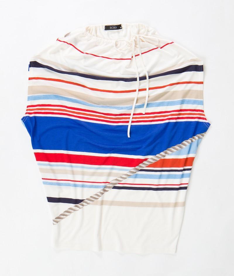 kolorowa bluzka Echo w paski - moda wiosna/lato