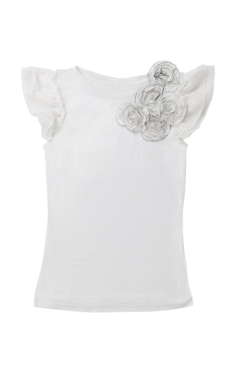 biała bluzka Mohito z kwiatem - letnia kolekcja