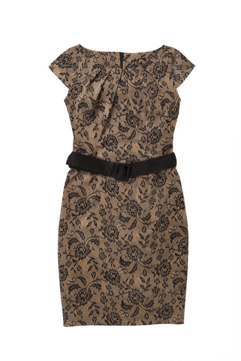 brązowa sukienka Mohito w kwiaty - kolekcja wiosenno/letnia