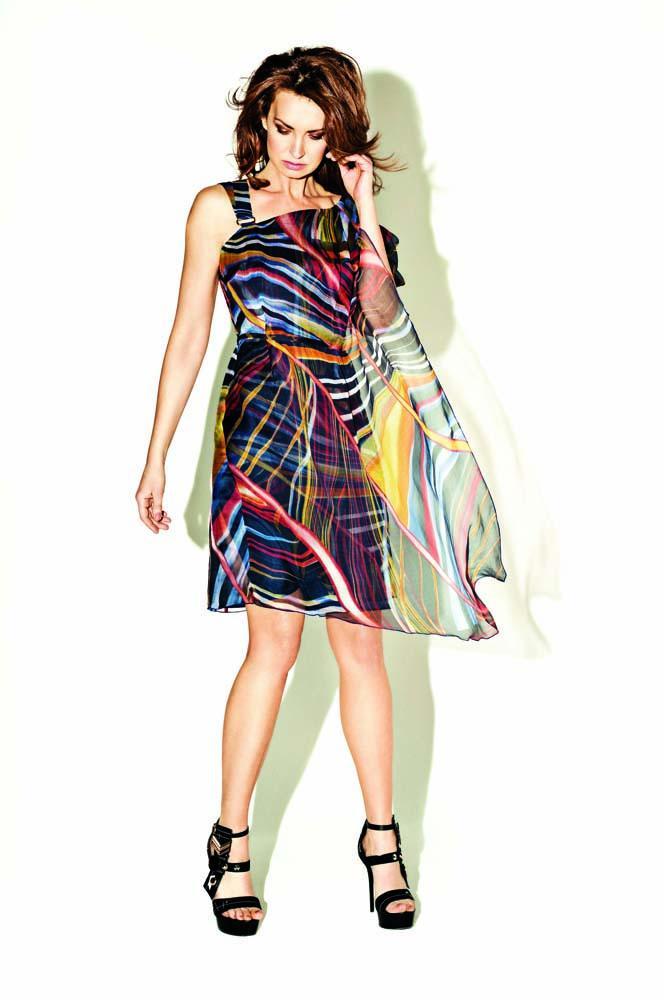 kolorowa sukienka Monnari - moda wiosna/lato