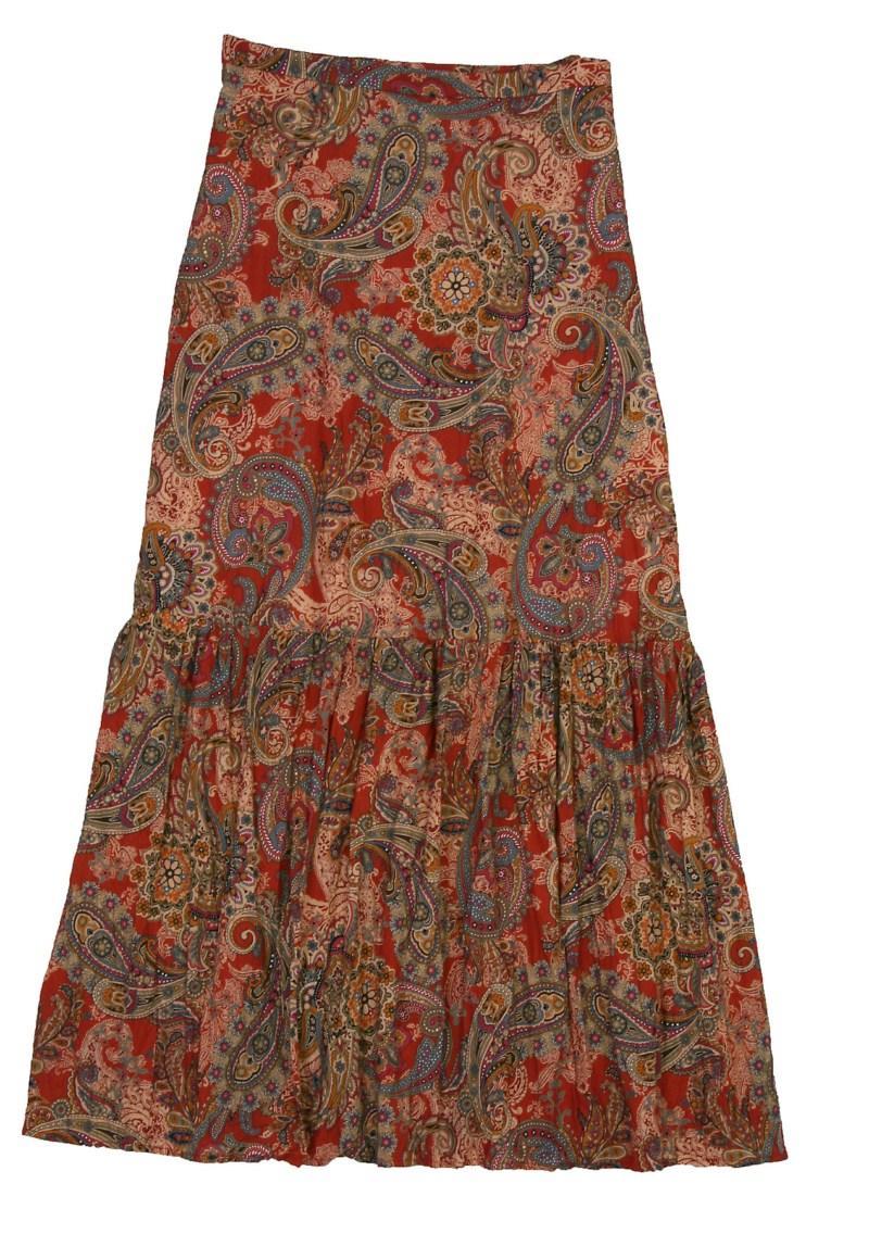 spódnica Bialcon we wzory długa - z kolekcji wiosna-lato 2011