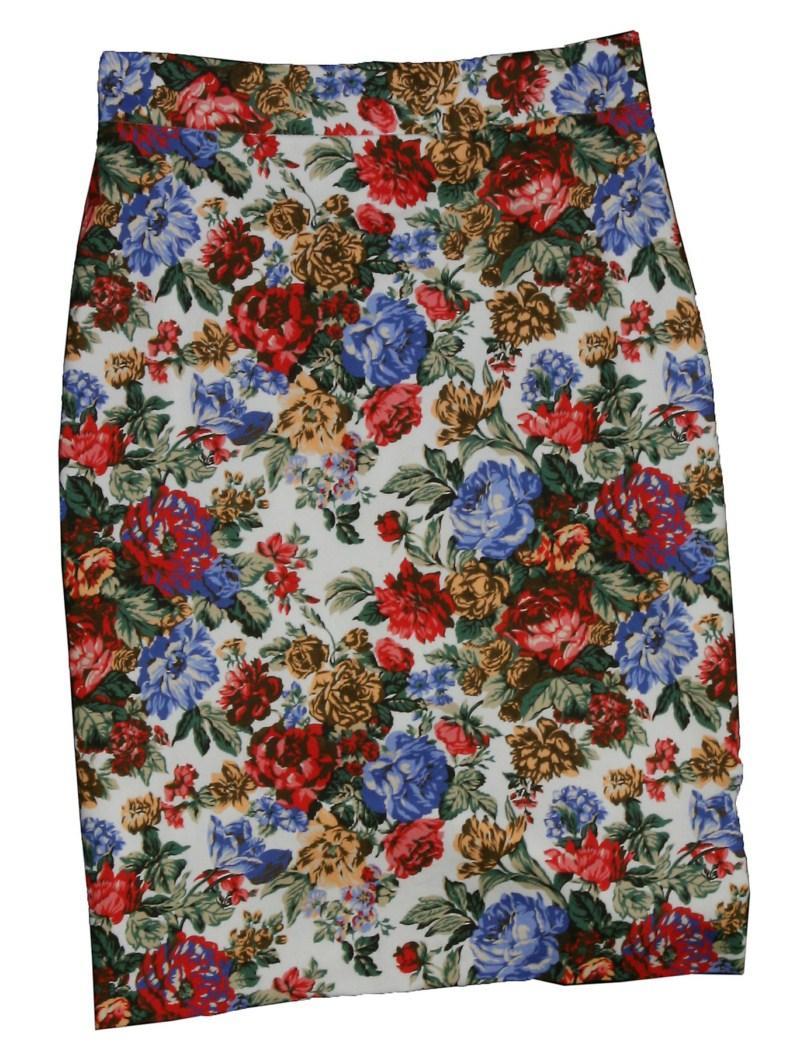 biała spódnica Bialcon w kwiaty - wiosna-lato 2011