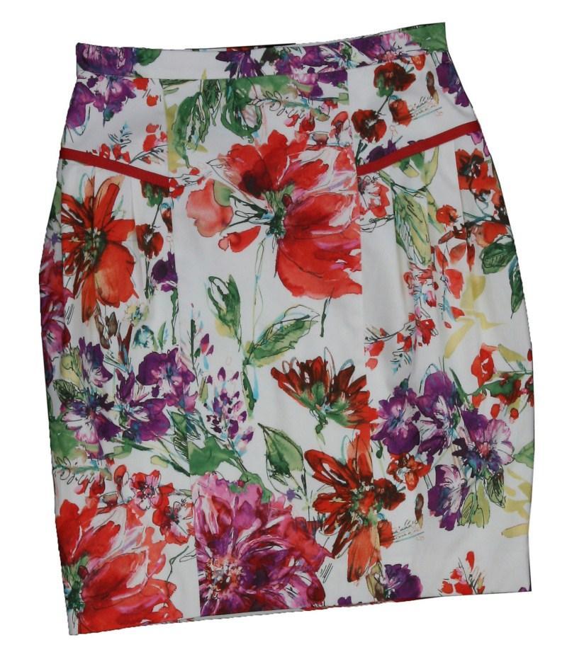 biała spódnica Bialcon w kwiaty - wiosna/lato 2011