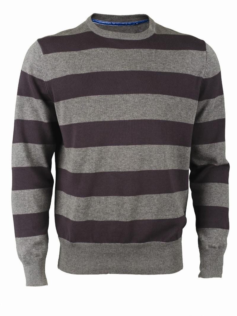 szary sweter Top Secret w pasy - kolekcja wiosenno/letnia