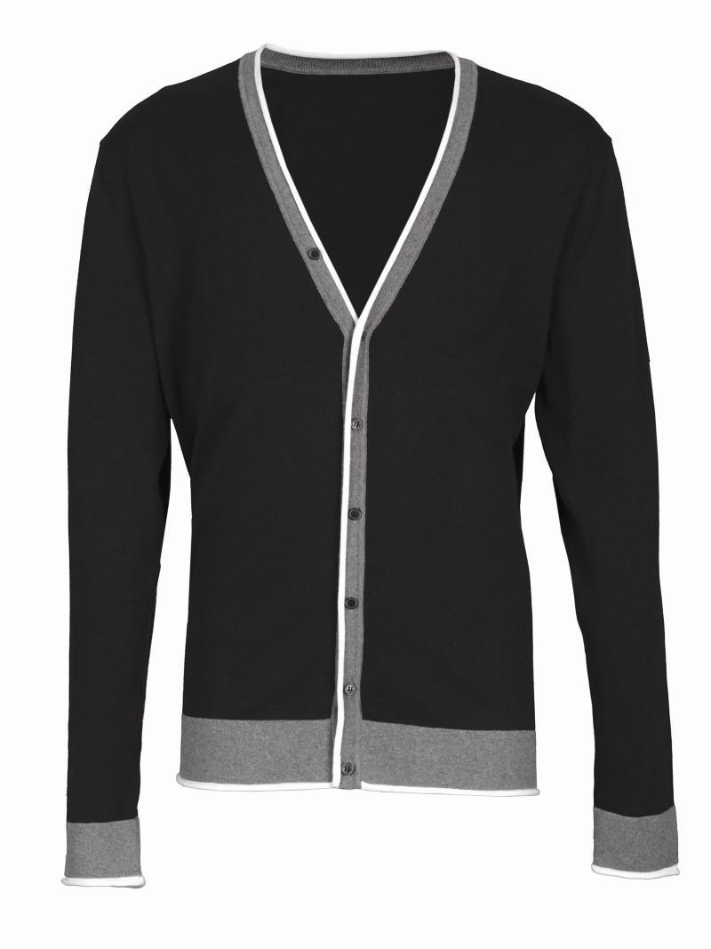 czarny sweter Top Secret rozpinany - kolekcja wiosenno/letnia