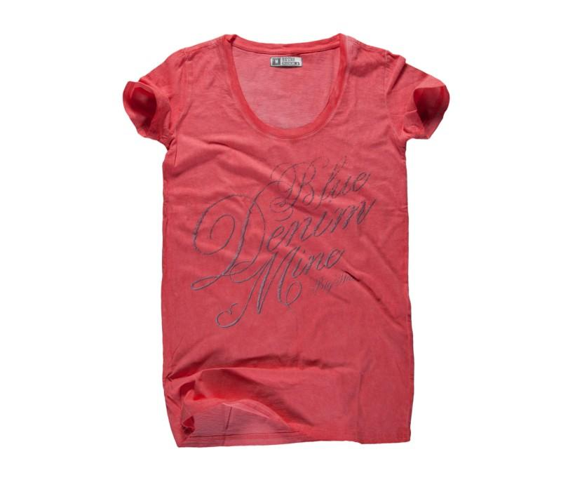 czerwony t-shirt Big Star z nadrukiem - letnia kolekcja
