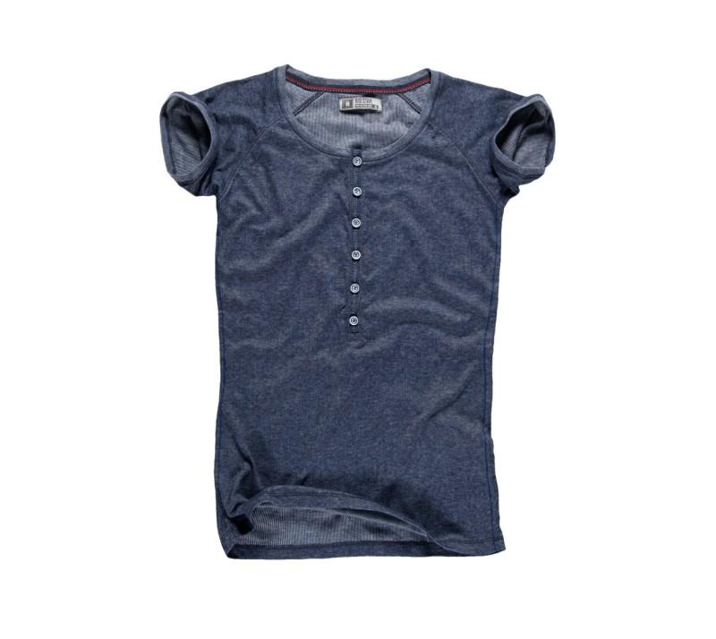 granatowy t-shirt Big Star z guzikami - kolekcja na lato