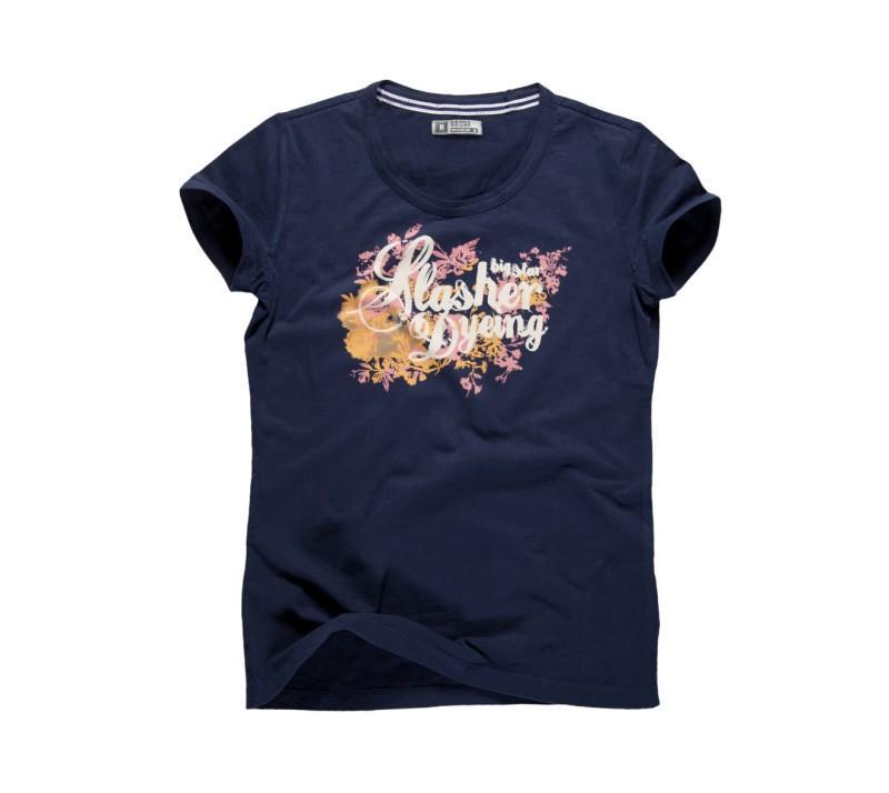 granatowy t-shirt Big Star z nadrukiem - moda wiosna/lato