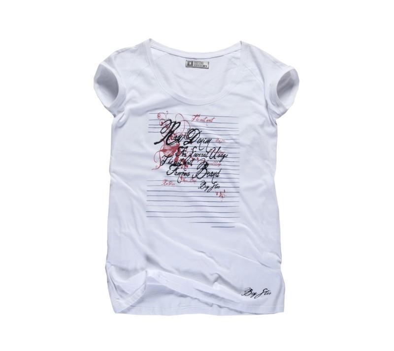 biały t-shirt Big Star z nadrukiem - z kolekcji wiosna-lato 2011