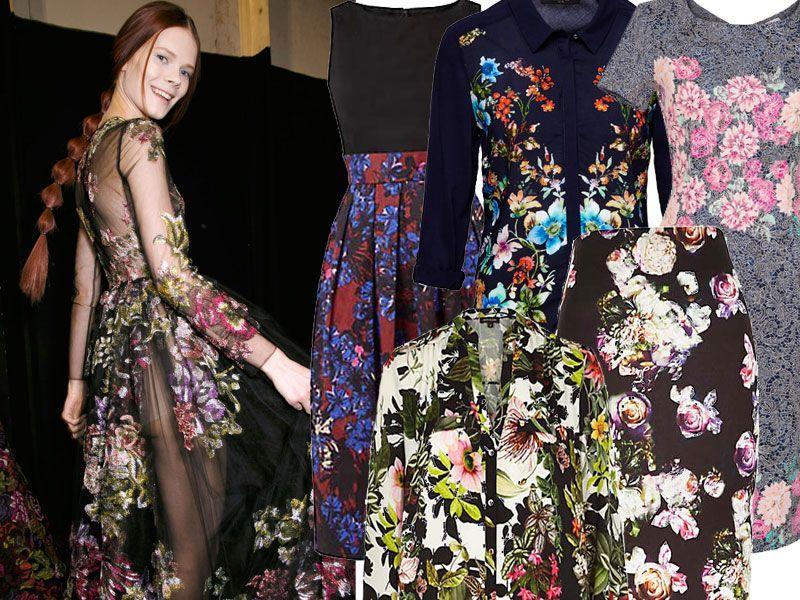Ubrania i dodatki w kwiaty
