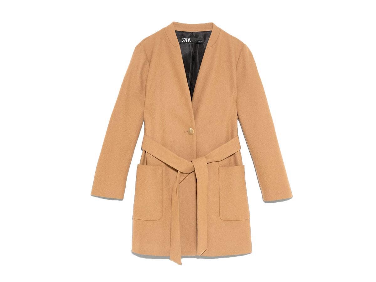 Płaszcz z paskiem, Zara, cena ok. 299,00 zł