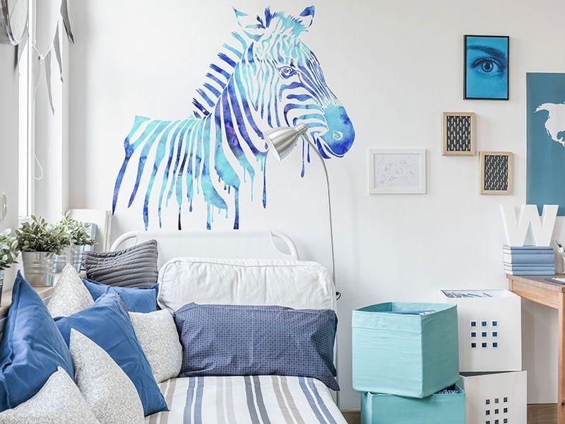 wnętrza z błękitem, ściany z błękitem, pokój biało błękitny, jak urządzić wnętrze z bielą i błękitem