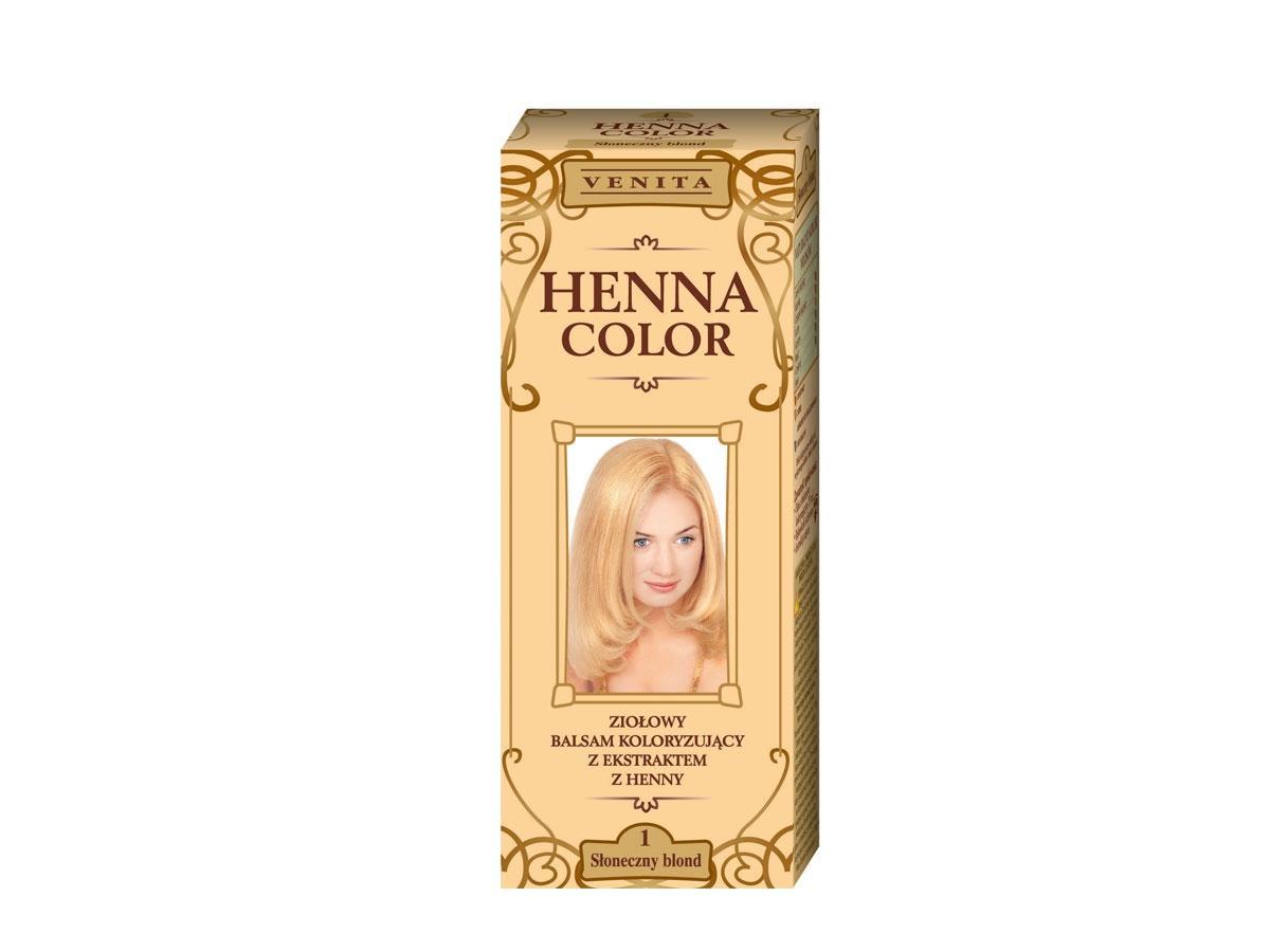 Ziołowy balsam koloryzujący z ekstraktem z henny, Słoneczny blond, Venita, cena
