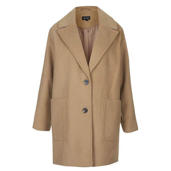 Beżowy płaszcz Topshop, cena