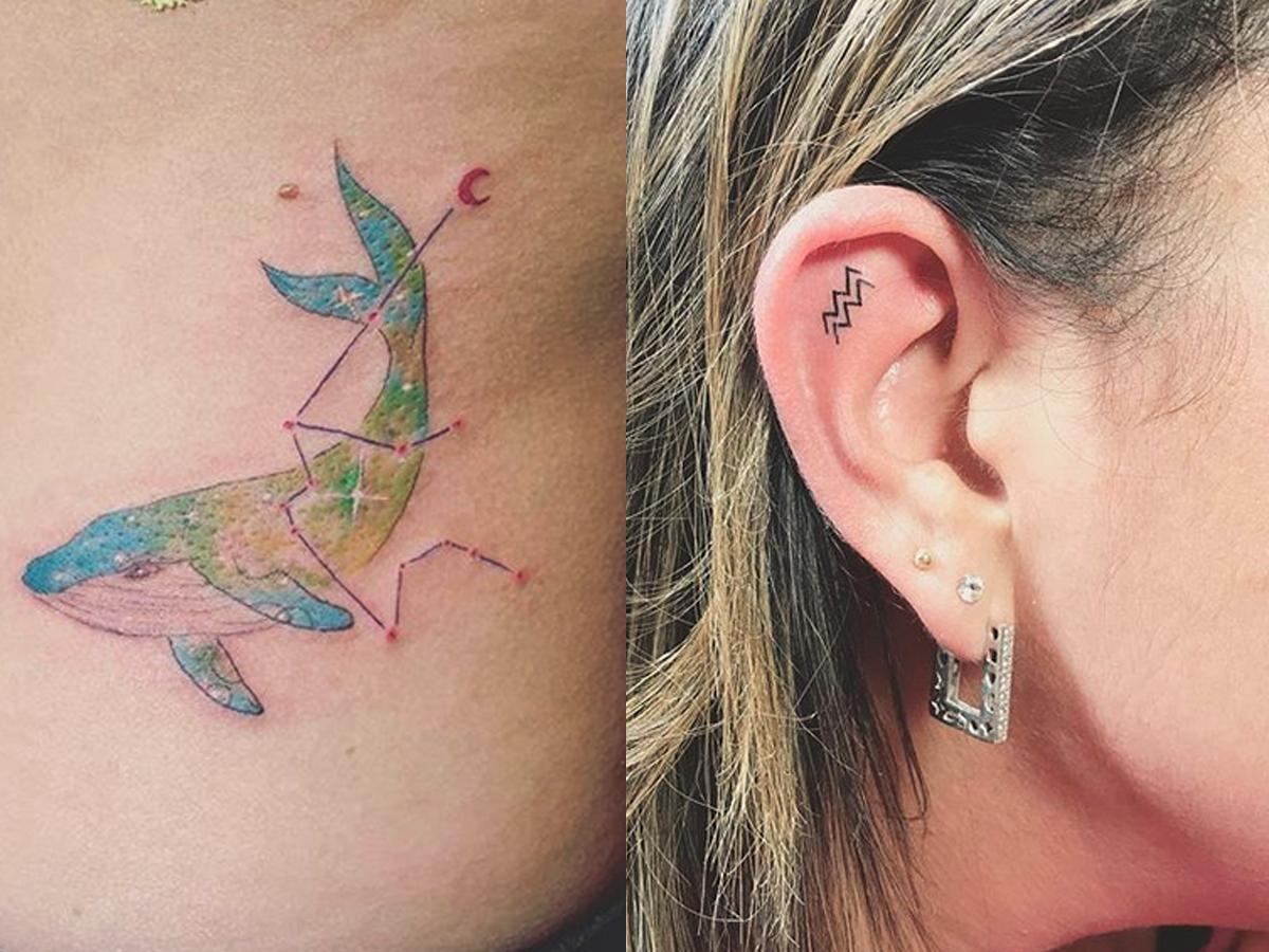 Tatuaże Ze Znakami Zodiaku Wodnik Tatuaż Co Trzeba