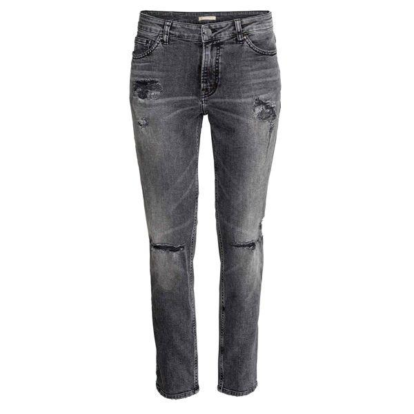 Czarne spodnie dżinsowe H&M, cena