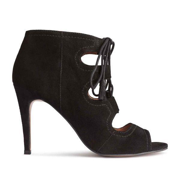 Czarne botki na obcasie H&M, cena