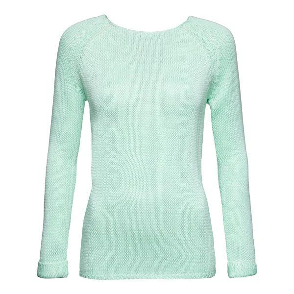Pastele wiosna 2015: miętowy sweter Reserved, cena