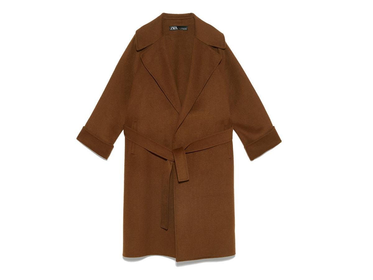 Brązowy płaszcz Zara, cena