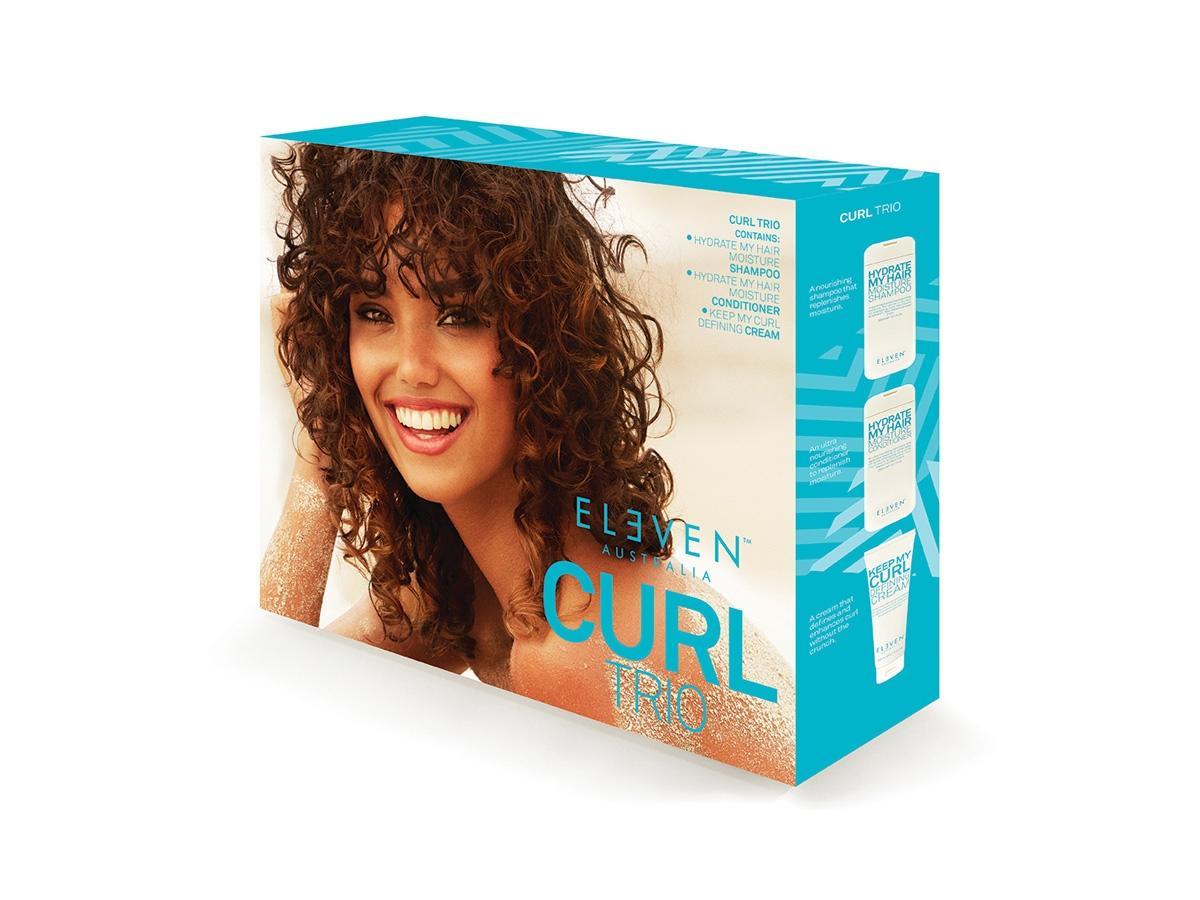 Zestaw kosmetyków do włosów CURL TRIO ELEVEN Australia, cena