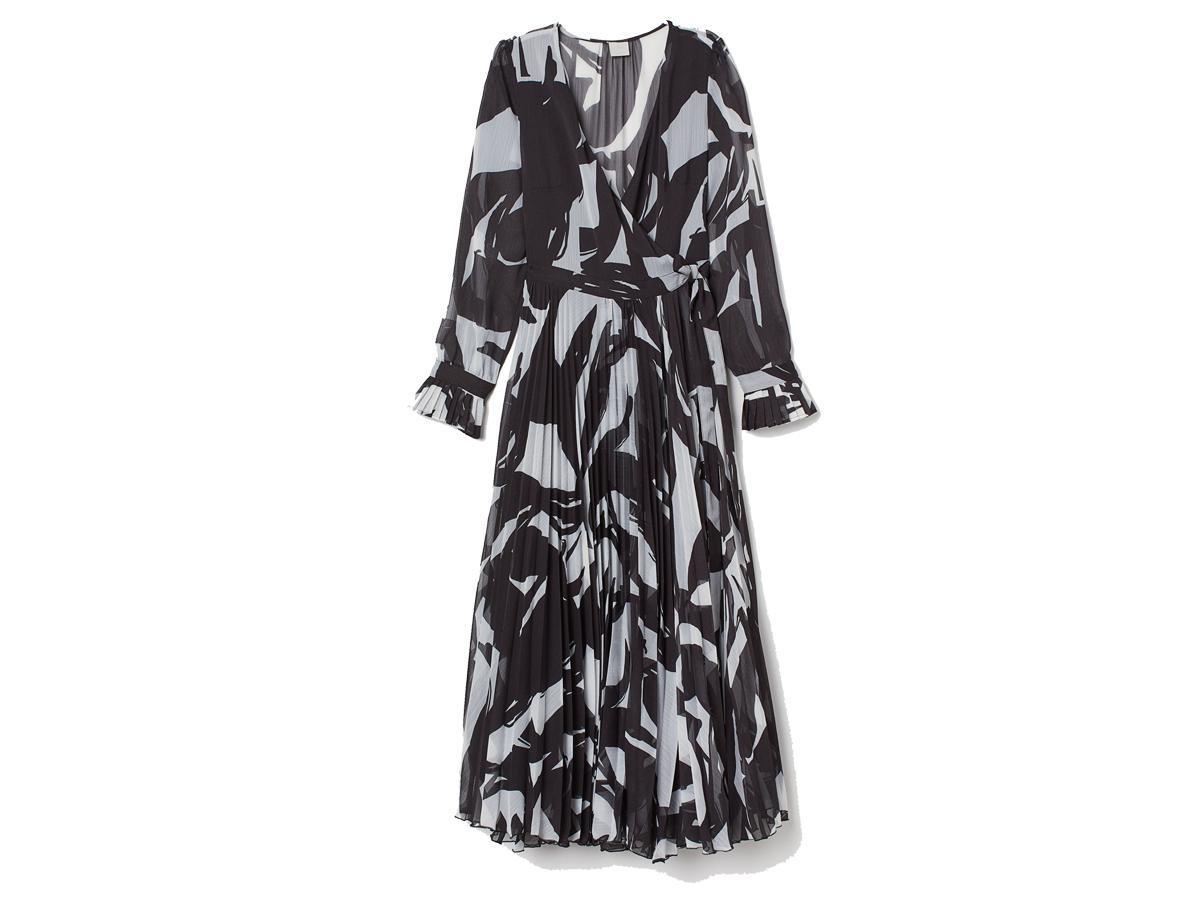 Rozkloszowana sukienka midi H&M, cena