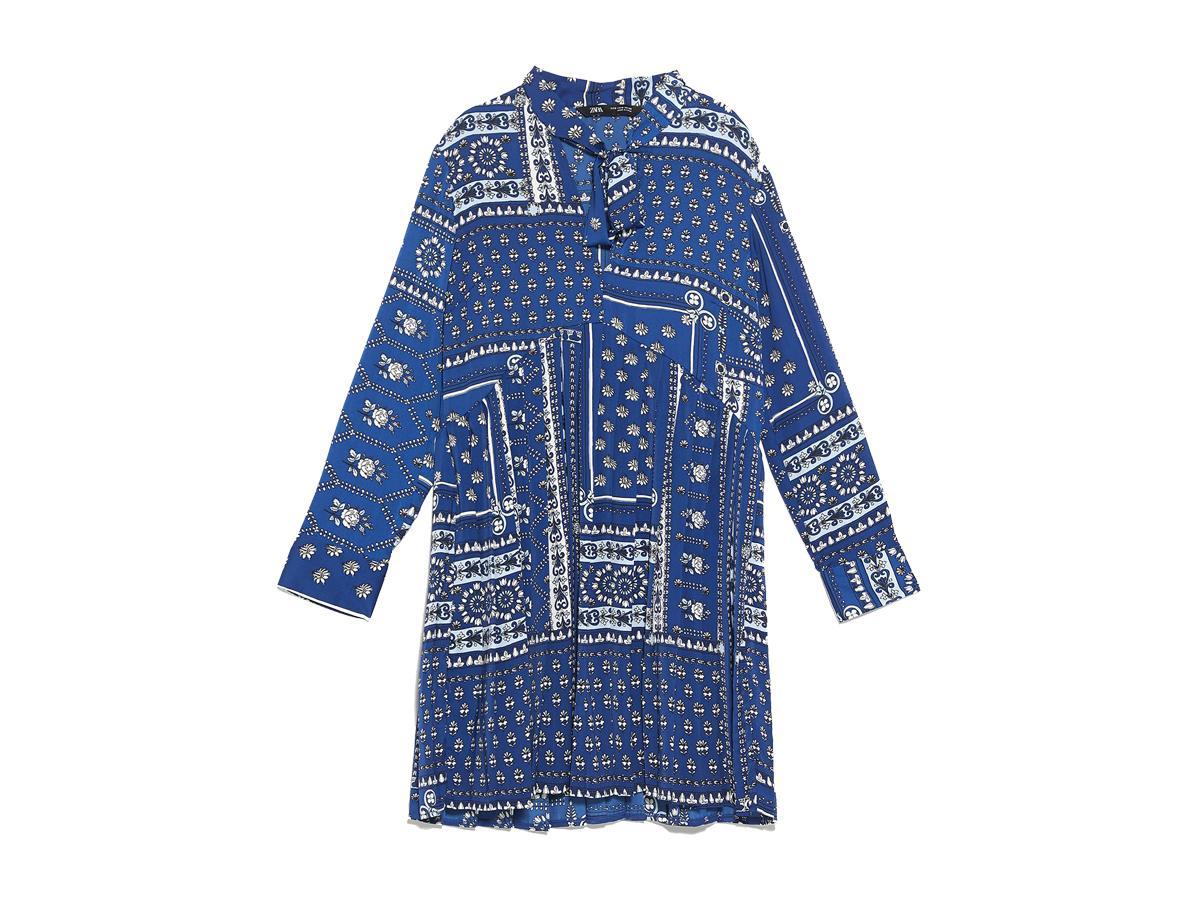 Wzorzysta sukienka Zara, cena