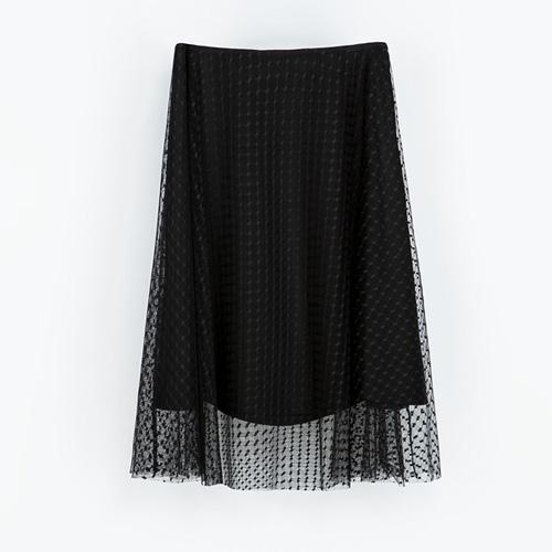 Tiulowa spódnica, Zara