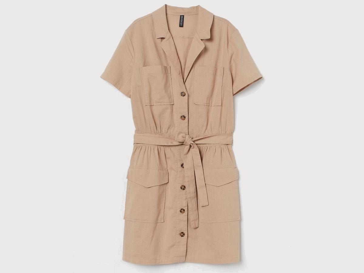 wyprzedaż w H&M: sukienka w stylu safari