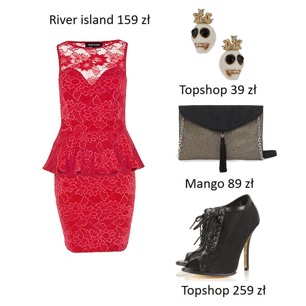 stylizacje z czerwonymi i różowymi sukienkami