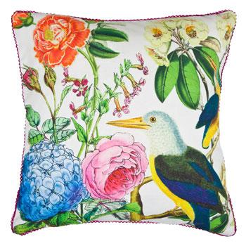Modna poduszka w roślinne wzory - dekoracje do wnętrz od Zara Home
