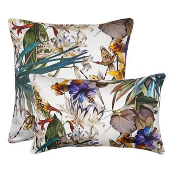 Urocza poduszka we wzory rajskiego ogrodu - Zara Home