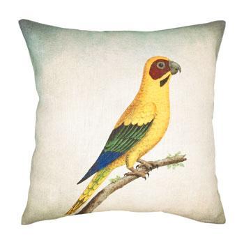 Dekoracyjna poduszka  z rajskim ptakiem - nowoczesny design