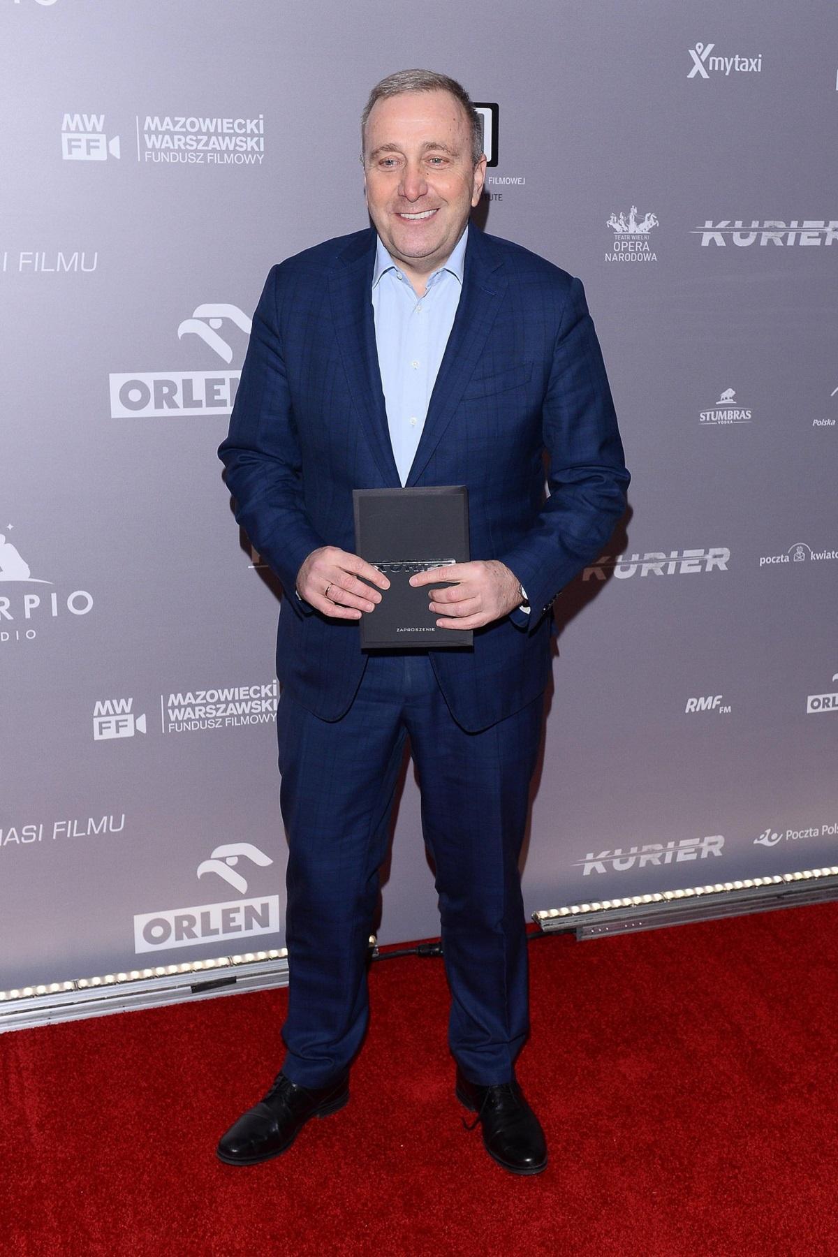 """Grzegorz Schetyna na premierze filmu """"Kurier"""""""