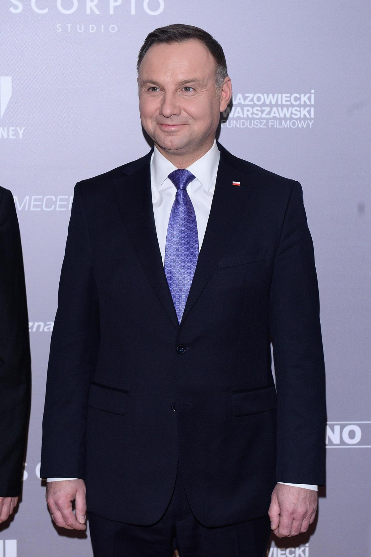 """Andrzej Duda na premierze filmu """"Kurier"""""""