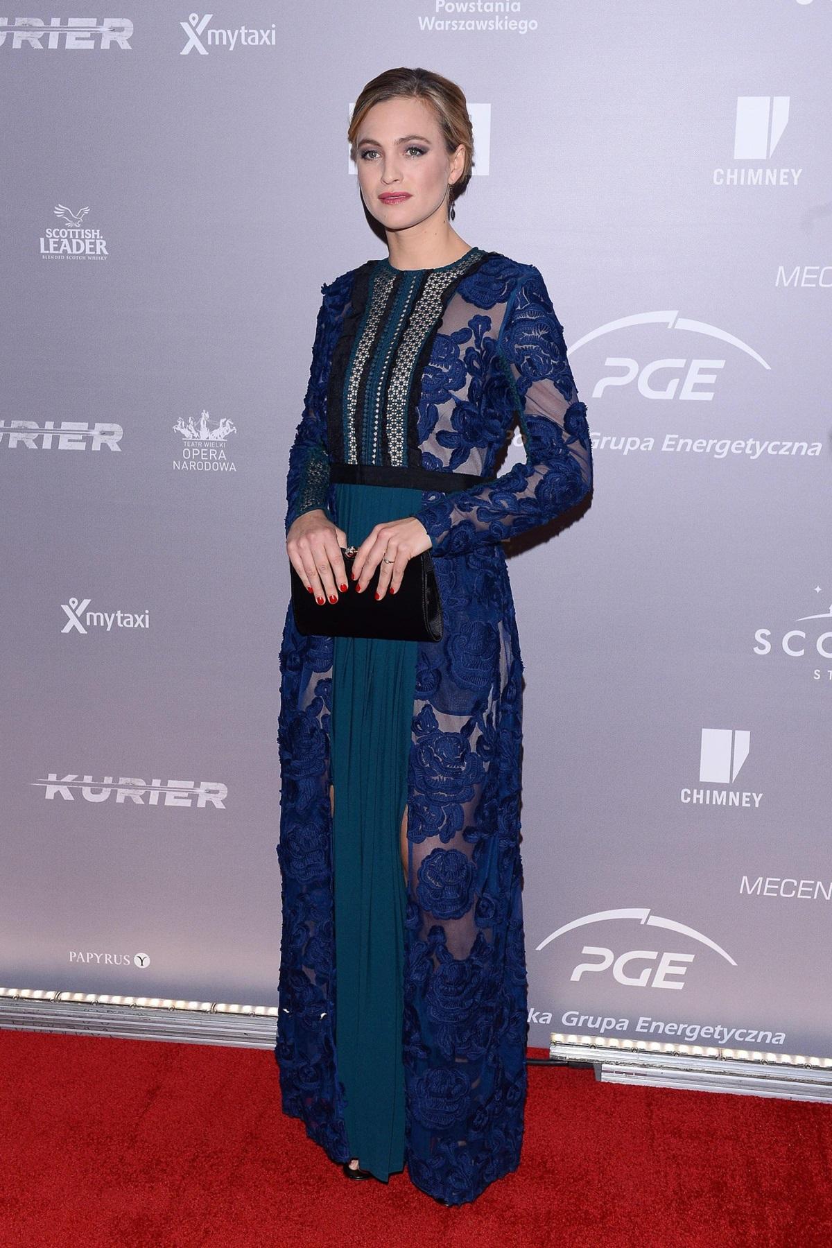 """Julie Engelbrecht na premierze filmu """"Kurier"""""""