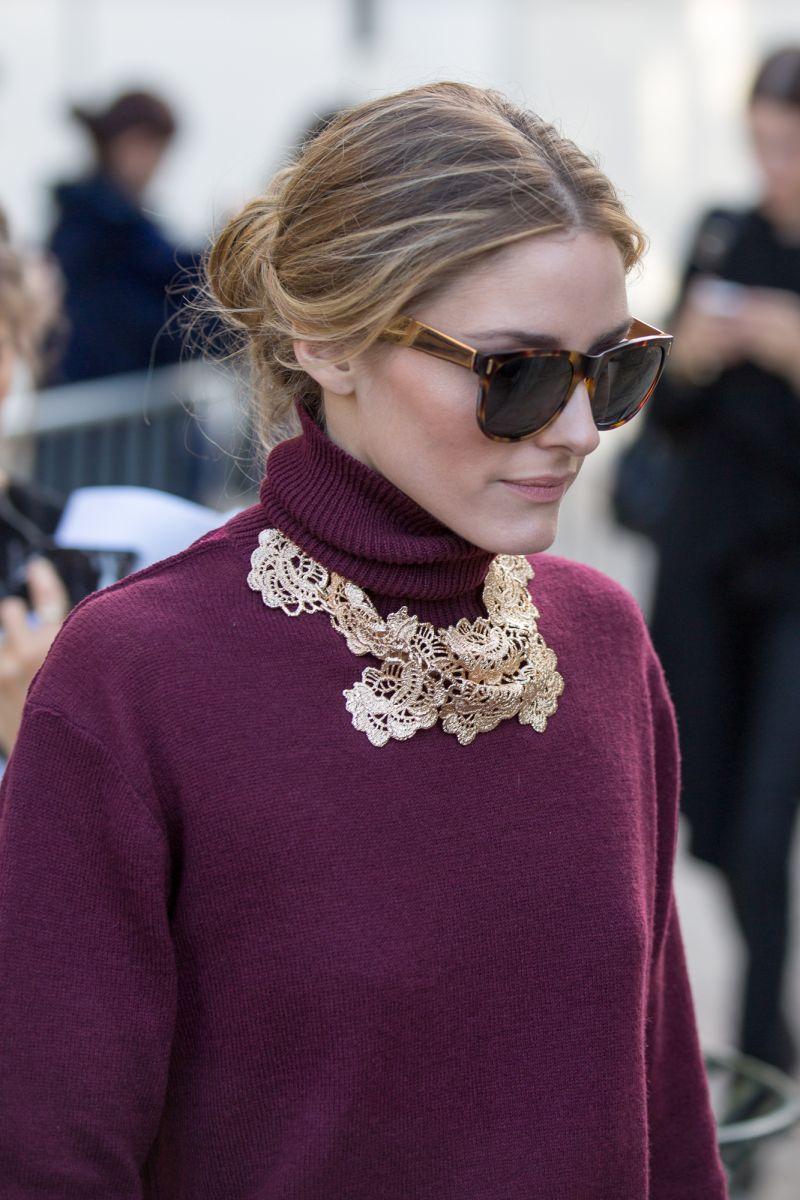 Olivia Palermo podczas Paris Fashion Week