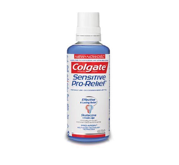 Płyn do płukania jamy ustnej na nadwrażliwość Colgate Sensitive Pro Reliefe, cena ok. 14 zł (opakowanie 400 ml)