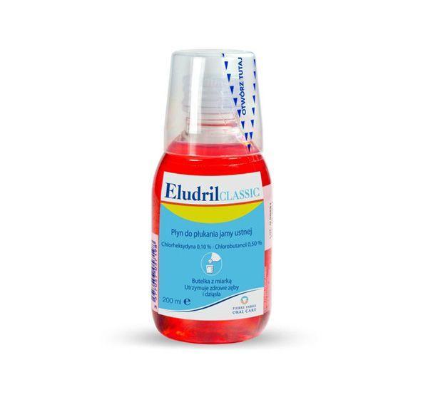 Płyn do płukania jamy ustnej Eludril, cena ok. 13 zł (opakowanie 200 ml)