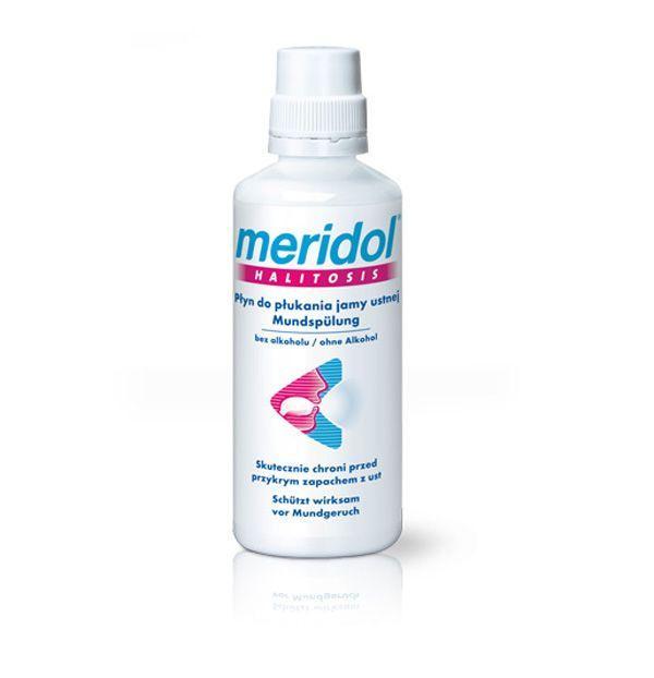 Płyn do płukania jamy ustnej Meridol, cena ok. 20 zł (opakowanie 400 ml)