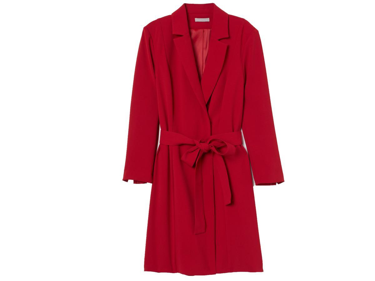 Czerwona sukienka żakietowa H&M
