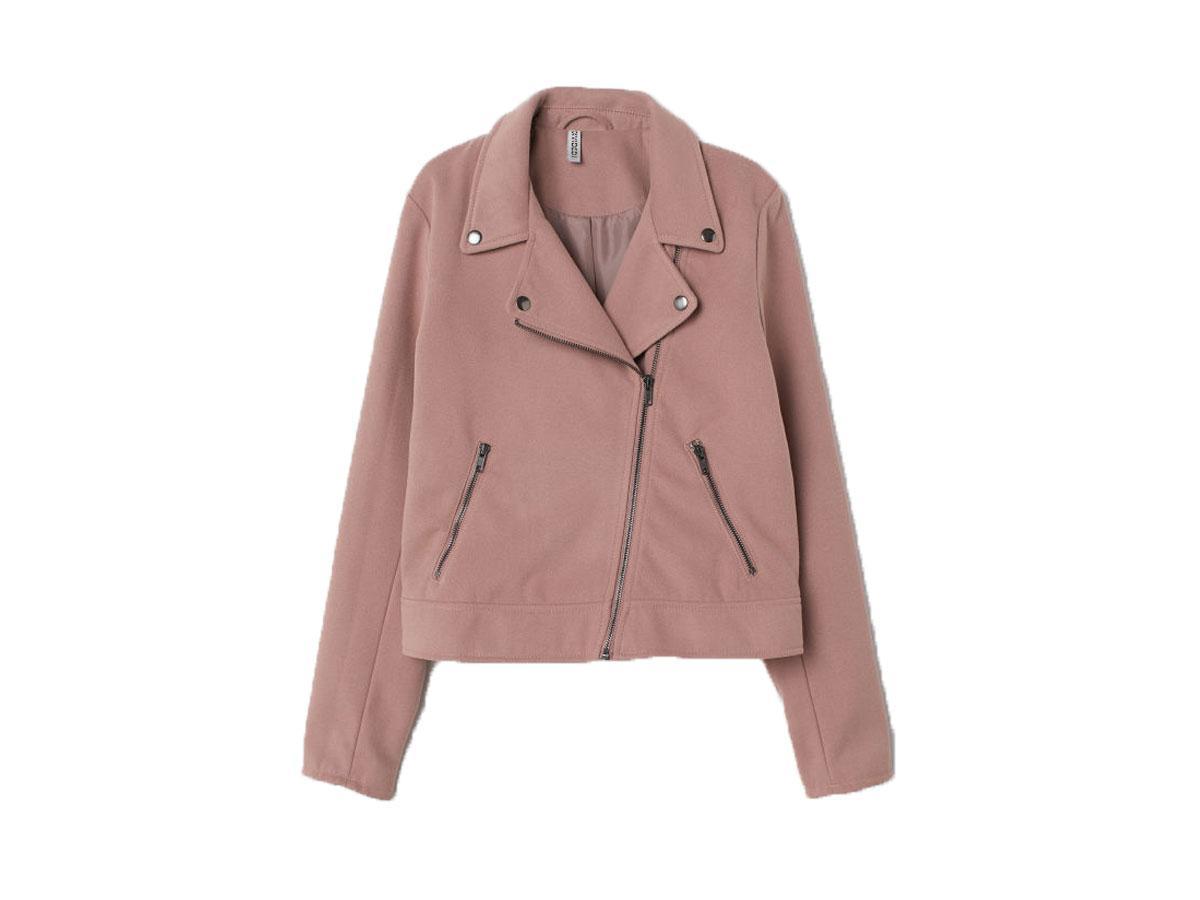 Różowa kurtka ze sztucznego zamszu, H&M, cena ok. 199,99 zł