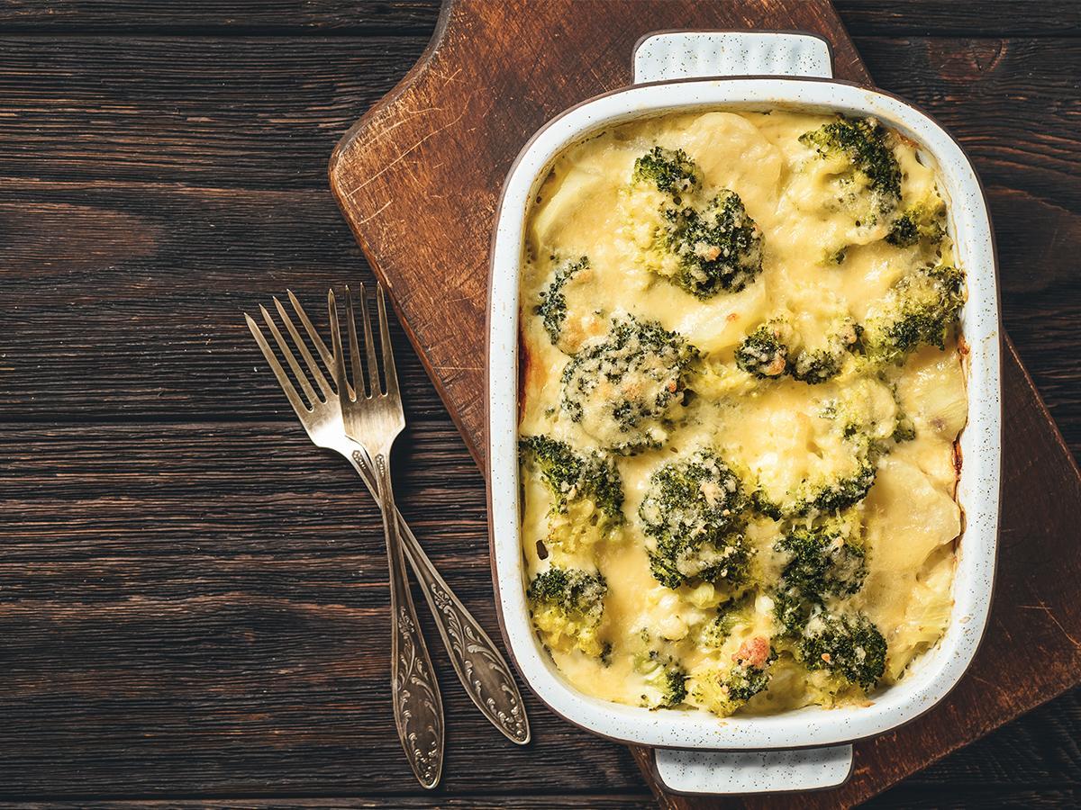przepis na zapiekankę z brokułami