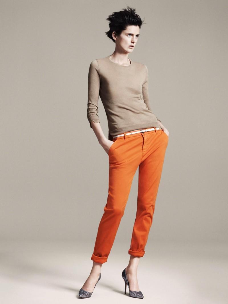pomarańczowe spodnie ZARA - wiosna/lato 2011