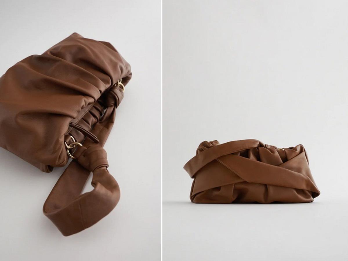 Zara kolekcja na jesień 2020: brązowa torebka skórzana
