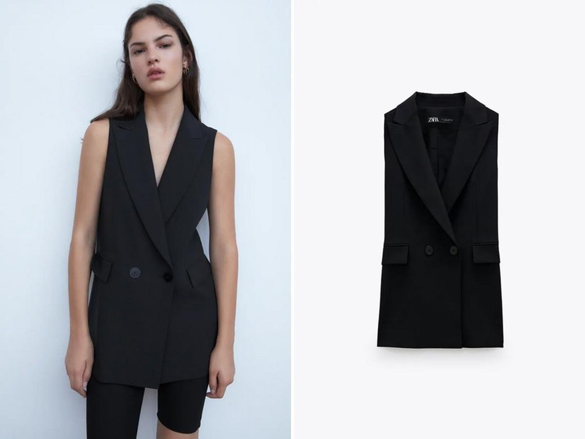 Zara kolekcja na jesień 2020: czarna kamizelka
