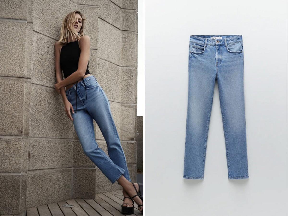 Zara kolekcja na jesień 2020: jeansy z wysokim stanem