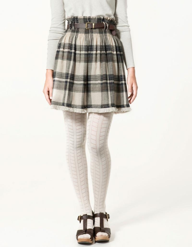 spódnica ZARA w kratkę - moda jesień/zima 2010