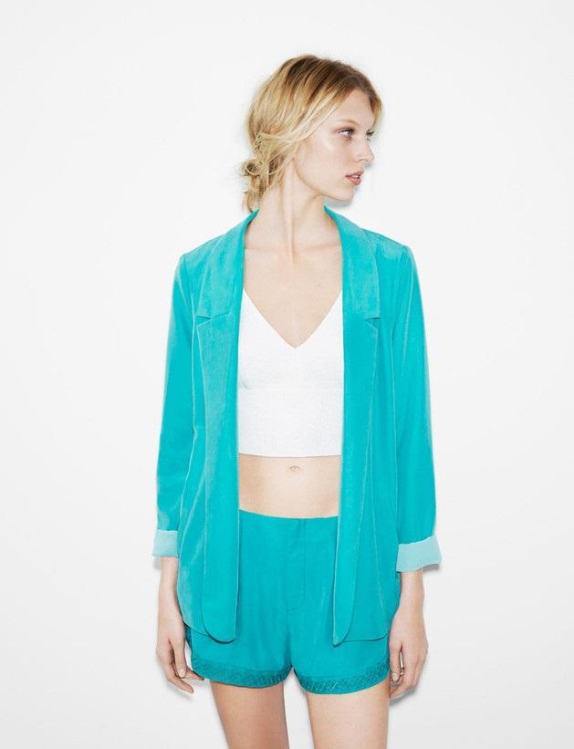 błękitny komplet Zara TRF - wiosenny lookbook
