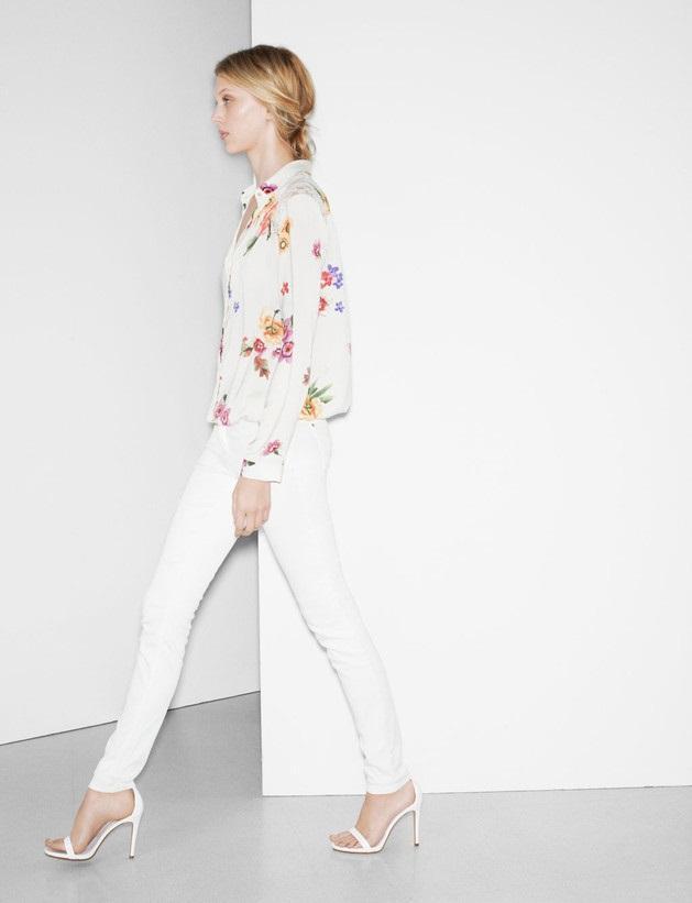 białe rurki Zara TRF - wiosenny lookbook